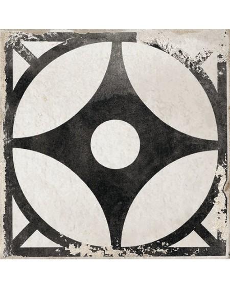 Dlažba obklad se vzorem Art retro patchwork Village Arcos black 15x15cm černobílá Maiolica výrobce Carmen
