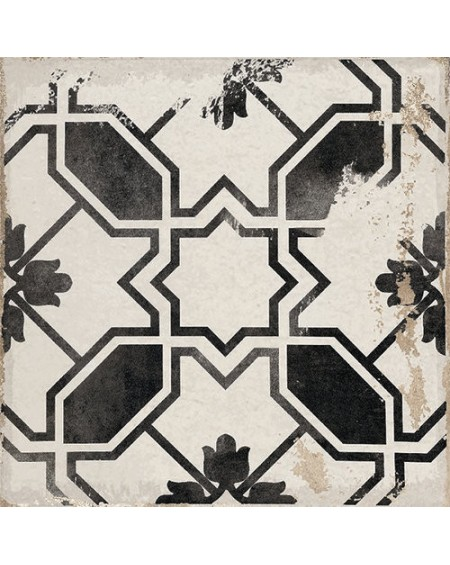 Dlažba obklad se vzorem Art retro patchwork Village Calleta black 15x15cm černobílá Maiolica výrobce Carmen