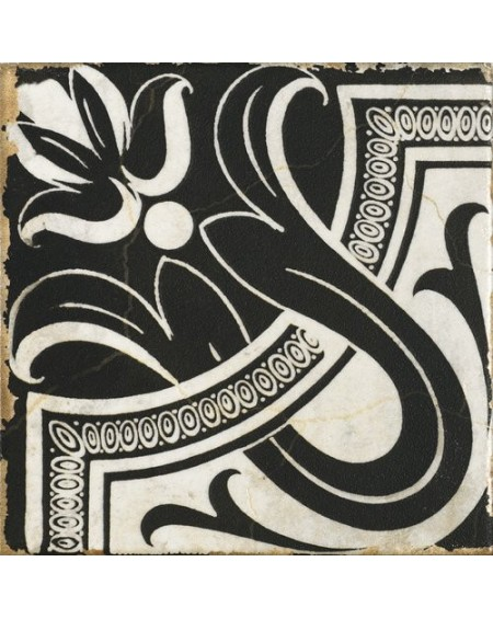Dlažba obklad vintage Savona Emilia černobílá provence patina 15x15cm výrobce Carmen matná