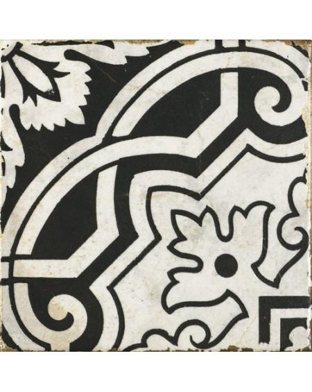 Dlažba obklad vintage Savona Ornella černobílá provence patina 15x15cm výrobce Carmen matná
