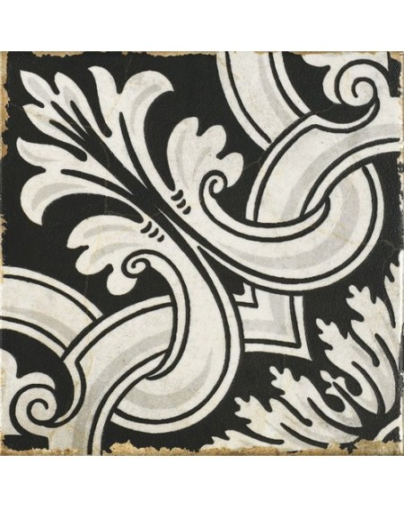 Dlažba obklad vintage Savona Enza černobílá provence patina 15x15cm výrobce Carmen matná