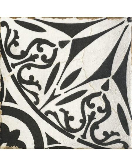 Dlažba obklad vintage Savona Lucca černobílá provence patina 15x15cm výrobce Carmen matná