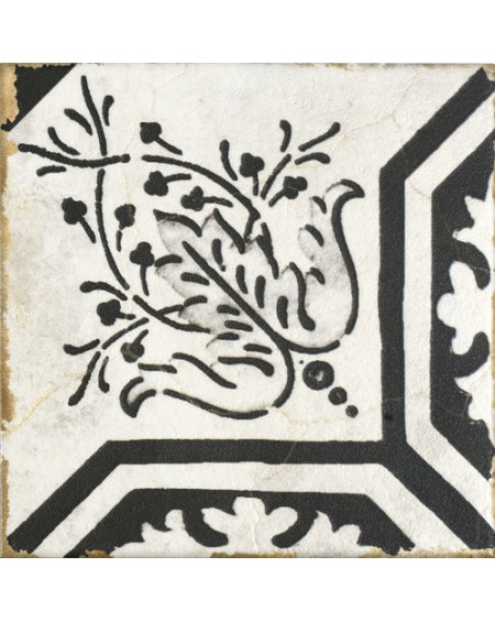 Dlažba obklad vintage Savona Elma černobílá provence patina 15x15cm výrobce Carmen matná