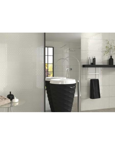 Koupelnový obklad barevný Allegra white Tina 30x90cm Rtt. Kalibrováno lesk výrobce Ape es. Cena za 1m2