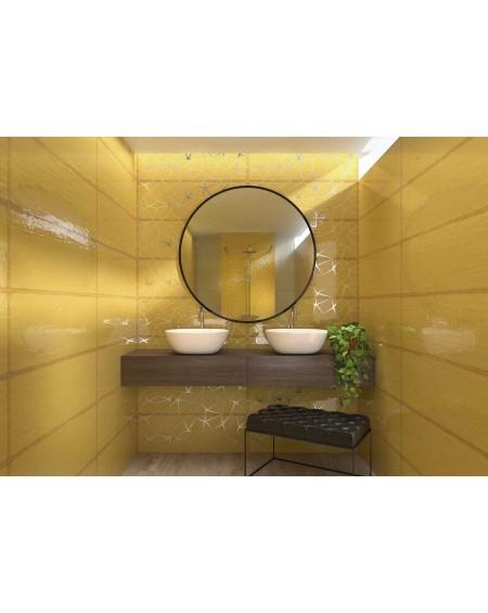 Koupelnový obklad barevný Allegra gold 30x90cm Rtt. Kalibrováno lesk výrobce Ape es. Cena za 1/m2