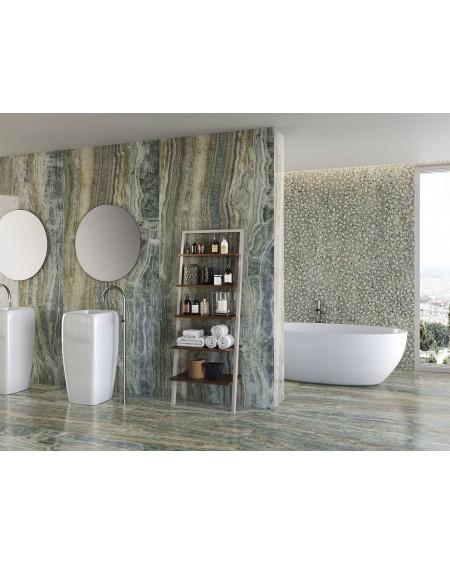 dlažba obklad velkoformátový imitující mozaiku Grace Jade 260x120 cm Brillo Pulido lesk TL. 7mmc ultra slim