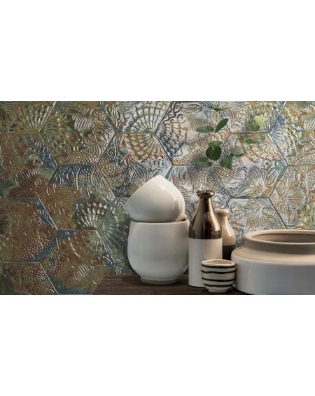 dlažba obklad pro kachlový obklad 22x25cm Gaudský ocean výrobce Codicer ceramica šestihran
