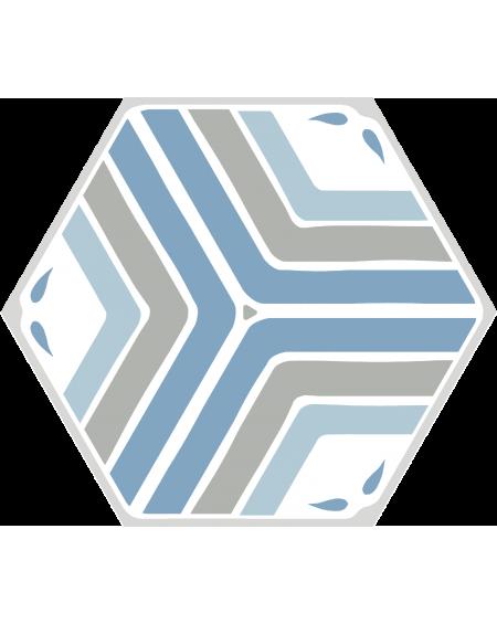 dlažba obklad geometrických tvarů hexagon jasmine modrá Jasmine blue hex 25x22 cm výrobce Codicer