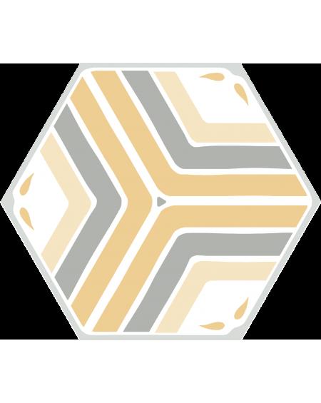 dlažba obklad geometrických tvarů hexagon žlutá Jasmine Yellow hex 25x22 cm výrobce Codicer