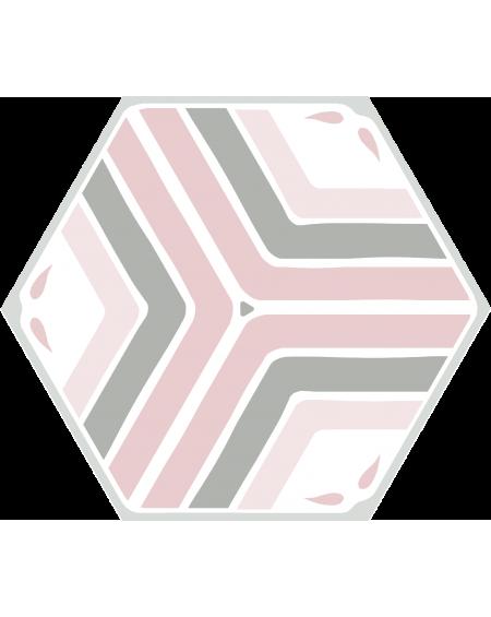 dlažba obklad geometrických tvarů růžová hexagon jasmine pink hex 25x22 cm výrobce Codicer