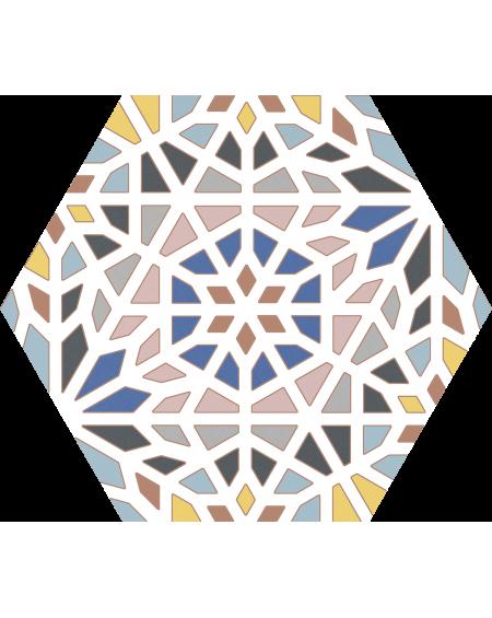 Dlažba obklad barevná hexagon pomatná hex 25 Kasbah MIX 25x22cm výrobce Codicer ceramica šestihran