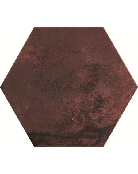 dlažba obklad karmínová červená esagona Red Clay 24x27,7 cm hexagon Miami výrobce Cir