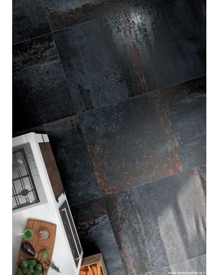 dlažba obklad Cir Costruire Metallo Nero 50x100 cm Rtt. matná výrobce Serenissima Italy