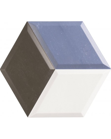 obklad hexagon polomatná modrá hex 28 Diamond Azul 28,x33 cm výrobce Realonda šestihran