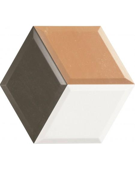 obklad hexagon polo matná okrová hex 28 Diamond Ocre 3D 28,x33 cm výrobce Realonda šestihran
