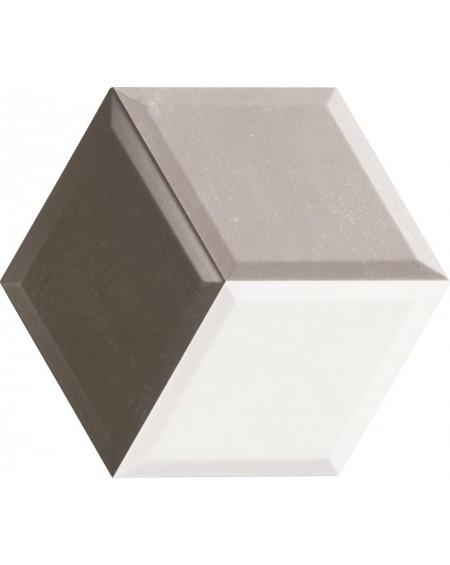 obklad hexagon polo matná šedá hex 28 Diamond Gris 3D 28,x33 cm výrobce Realonda šestihran