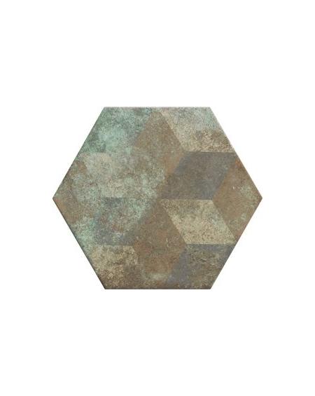 obklad hexagon polo matná zelená rez hex 28 Donegal Deco Forest 28,x33 cm výrobce Realonda šestihran