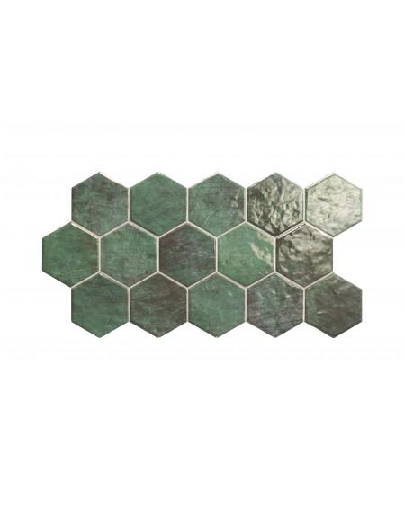 Dlažba obklad lahvově zelená hexagon polomatná hex 28 Zellinge 26,5x51 cm cm výrobce Realonda šestihran