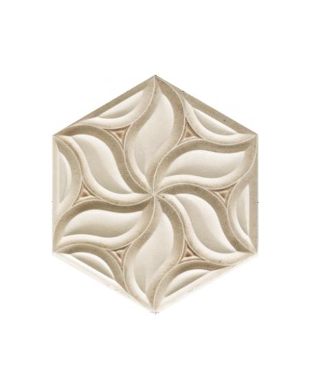 obklad prostorový hexagon imitující kámen hex28 Habitat výrobce Reaonda šestihran Sand