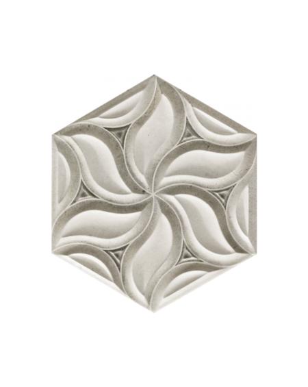 obklad prostorový hexagon imitující kámen hex28 Habitat Ice výrobce Reaonda šestihran