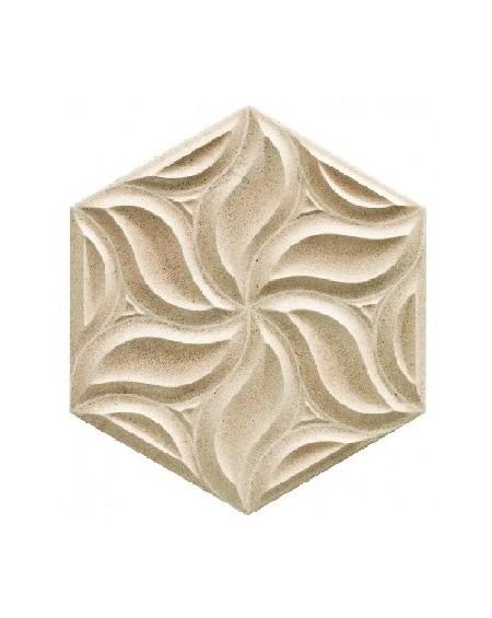 obklad prostorový hexagon imitující kámen hex28 Habitat Greige výrobce Reaonda šestihran