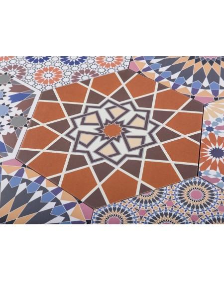 dlažba obklad retro orient hexagon s barevným vzorem hex 28 Andalusí 28,5x33 cm výrobce Reaonda šestihran