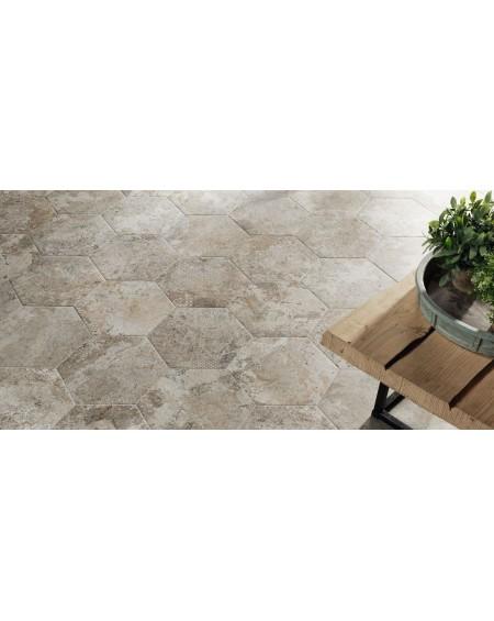 dlažba obklad cemento neutro patina hexagon hex 28 Blur 28,5x33 cm výrobce Reaonda šestihran