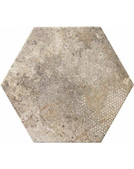 dlažba obklad cemento neutro patina hexagon hex 28 Blur Gris 28,5x33 cm výrobce Reaonda šestihran