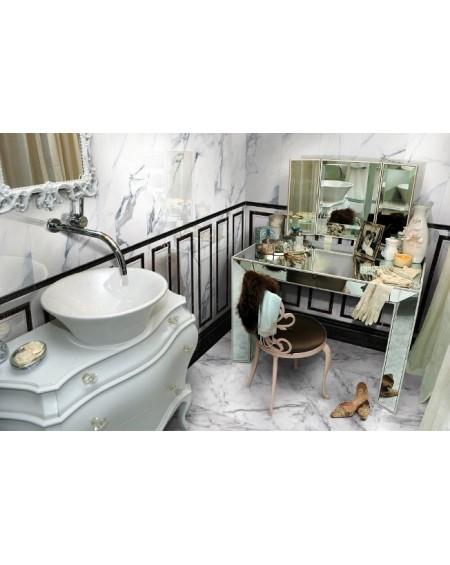 Koupelna vintage kazetový obklad Statuario výrobce Aparici