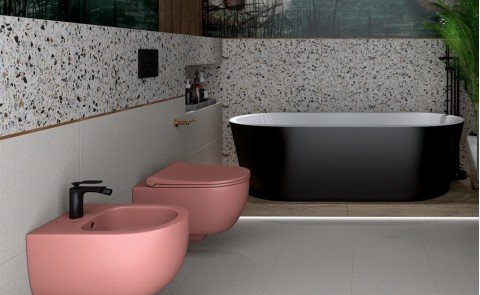 Barevná sanitární keramika